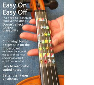 Fretless Finger Guides 4/4 Beginner Violin Finger Guide Learn to Play Violin