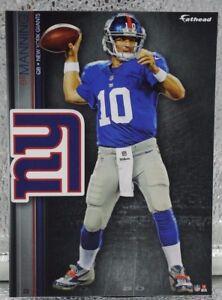 "Eli Manning 10 Fathead New York Giants NFL 7"" Decal Ole Miss Rebels Super Bowl X"