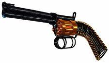 Handmade Metal Wire Revolver Handgun - Collectible Wall Art, Black Gun Sculpture