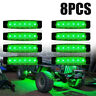 8X LED Rock Light Fit For JEEP Offroad ATV Truck Bed Under Body Fog Lights New