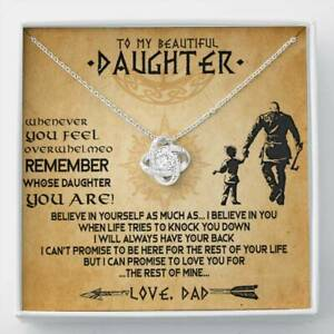 To My Daughter Necklace, Daughter Father Necklace, Daughter Gift from Dad