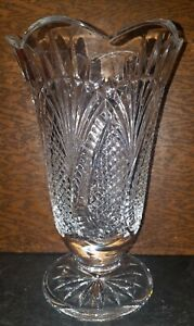 WATERFORD CRYSTAL SEAHORSE LARGE 10 INCH VASE STUNNING
