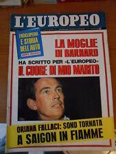 L'EUROPEO n.8-1968-+4°fascicolo storia dell'auto-MUSSOLINI-L.ARMSTRONG-MANFREDI