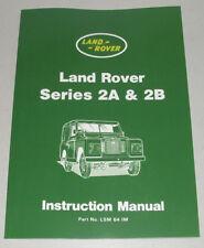 Handbuch / Instruction Manual Land Rover Serie IIA + IIB / 2A + 2B