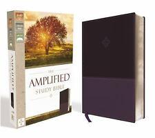 Amplified Study Bible, Imitation Leather, Purple (Leather / Fine Binding)
