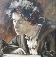 von Gebhardt Eduard 1839-1925 Portrait Junger Mann beim Lesen MARTIN LUTHER ?