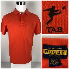 Ralph Lauren Rugby Mens XL Polo Shirt Embroidered Orange