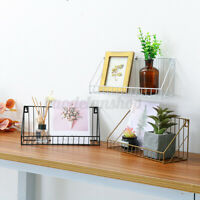 Iron Floating Shelves Wall Mounted Shelf Display Rack Storage Holder Home  C