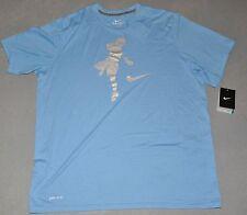 "NWT Nike® Mens ""BLUE CHIP LACROSSE LEGEND"" Light Blue DRI-FIT Tee T-Shirt XL"