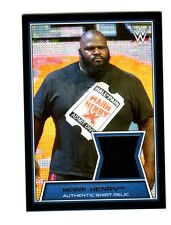 WWE Mark Henry 2014 Topps Road To WrestleMania Event Used Shirt Relic Card DWC