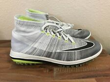 Nike Flyknit Elite Golf Shoes Pure Platinum/Gray/Volt 844450-002 Men Sz 10