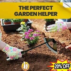 All-steel Hardened Hollow Hoe Handheld Weeding Rake Planting Farm Vegetables New