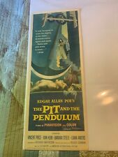 """Pit and the Pendulum Near mint rolled 14""""x36"""" Insert poster signed"""