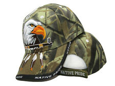 Native Pride American Indian Eagle Herb Pipe Shadow Camo Embroidered Cap Hat