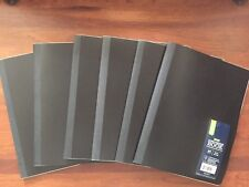 Casemate Lot of 6 Wide Ruled Poly Composition Books - 80 Sheets - Black - New
