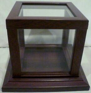 Vintage Square Cube Fiberboard Wood Display Case
