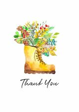 New Thank You Cards Premium White Card Stock 270gsm Digitally Printed (Pack 10)