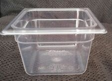 """True restaurant Clear Cold Food Container storage without Lid, 1/6 Size 4"""" NSF"""