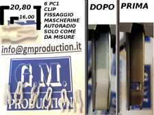 6 PZ CLIP MOLLETTE PLASTICHE FISSAGGIO MASCHERINE AUTORADIO 1 2 DIN VEDI MISURE