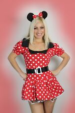 Halloween Womens Lingerie Minnie Mouse Fancy Dress Costume M/L/XL hen Party