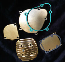 66 / 80cc engine motor parts - gold color covers, head, clutch cover, mag cover
