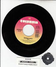 MARIAH CAREY Hero & Everything Fades Away 7 45 rpm record RARE! + juke box strip