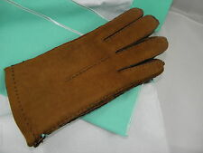 TIFFANY&CO SUEDE LEATHER CAMEL GLOVES SZ 8.5 BRAND NEW IN A BOX