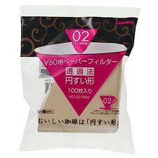 New Hario Misarashi V60 Size 02 Filter Paper VCF02 100 Count ***FREE SHIPPING***