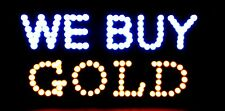 """Ultra Bright We Buy Gold  Large Size 22""""X13"""" Animated  LED Neon Light  Sign HL89"""