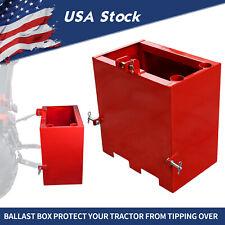 3point Counterweight Ballast Box Loader Tractor Quick Tach Attachment Heavy Duty