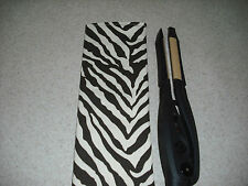 Flat Iron / Curling Iron Case/ Cover - Brown & Ivory Zebra Print - Heavyweight
