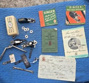 Collection Vintage Singer Sewing Machine Accessories & Booklets