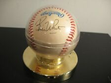 BILL WHITE  YANKESS AUTOGRAPH SIGNED OAL BASEBALL BOBBY BROWN PRESIDENT