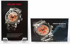 Oakley Hollow Point Watch POP Cards Titanium with Orange Face Set of 2