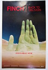 Finch *Back To Oblivion* Double-Sided Promo Poster What It Is To Burn RARE