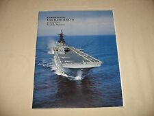 USS Wasp LHD-1 Plankowner Commissioning 29 July 1989 Navy Cruise Book