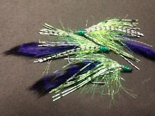 Bass Craw Crawlers, Purple/ Holographic ,  Sold per 3/ Size 1/0,  **** NEW****