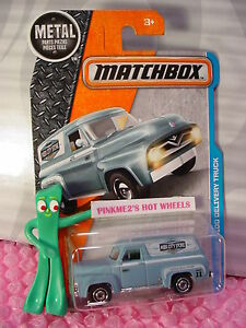 2017 Matchbox #17 '55 FORD F-100 DELIVERY TRUCK☆blue;City ☆Adventure☆Case A/B