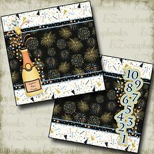 Happy New Year - NPM - 2 Premade Scrapbook Pages - EZ Layout 2689