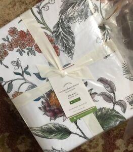 Pottery Barn Verona Duvet Cover Set Queen 2 Euro Shams Palampore Floral 3pc New