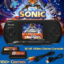 16 bit PXP PVP Portable Video Game Handheld Console 150 Games Retro Megadrive