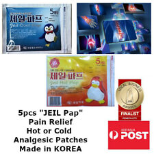5 Pieces JEIL Korean Cool or Hot Anti-Inflammatory Analgesic Pain Relief Patches