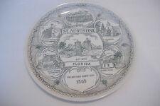 ~St. Augustine Florida~Vintage Souvenir Ceramic Plate~10 Inch Diameter~