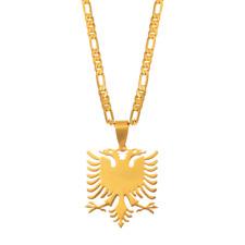 Albanien Albania Gold Kette Anhänger Adler Doppelkopf