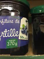 Lot revendeur déstockage Palette/Solderie De 4 Confitures De Myrtilles Extra