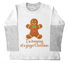 Camisetas de niño de 2 a 16 años manga larga color principal blanco 100% algodón
