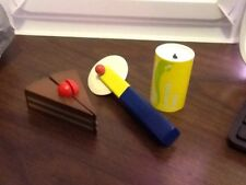 Wooden Pretend Fun Play Food Soda Can Pizza Cutter And Cake