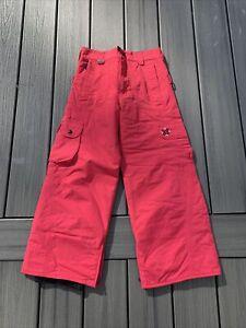 Burton Girl's Sz M Insulated Snowboard/Ski Pants ~Hot Pink~