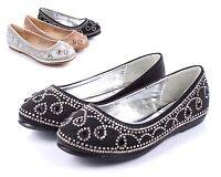 Black Preschool Toddler Cute Princess Kids Flats Girls Dressy Shoes Size 1
