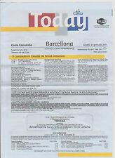 Lotto 8 TODAY - COSTA  CONCORDIA - Crociera dal 31/1 al 9/2 2011